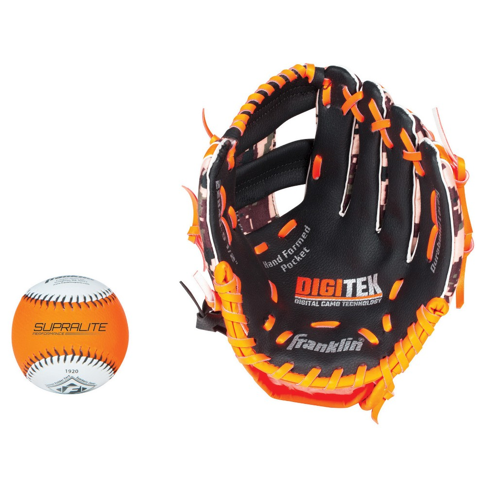 "RTP Performance Series 9.5/"" Left T Franklin Sports Teeball Glove and Ball Set"