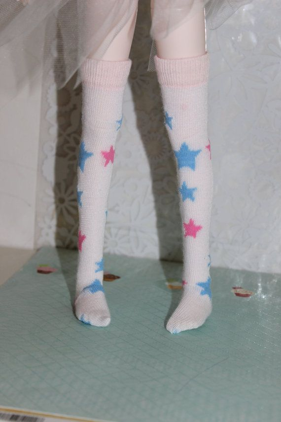 Fairy Kei Over the Knee Socks for MSD  BJD 1/4 scale by SnootyCow