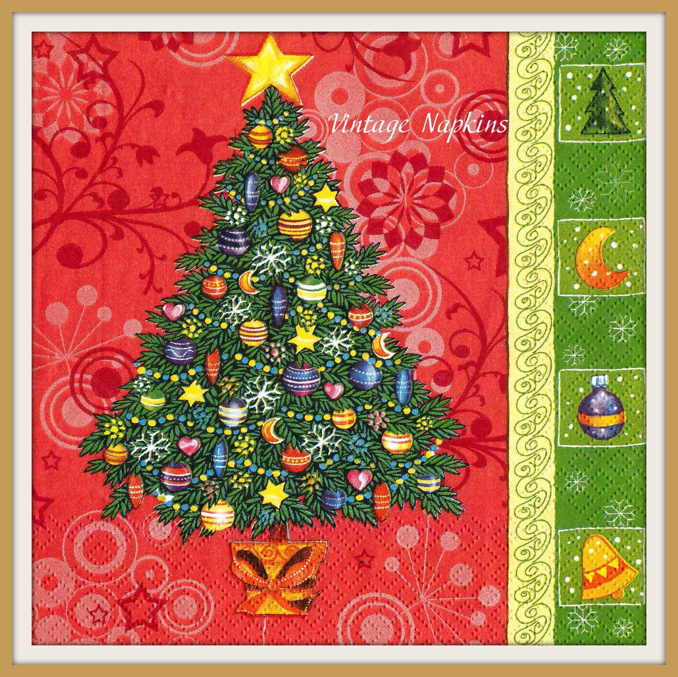 Decoupage Paper Napkin Tissue Paper Collectibles Scrapbooking Crafts Serviette Papier Christmas