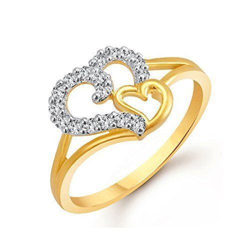 Meenaz Valentine Gifts Gold Plated Rings For Girls And Wo