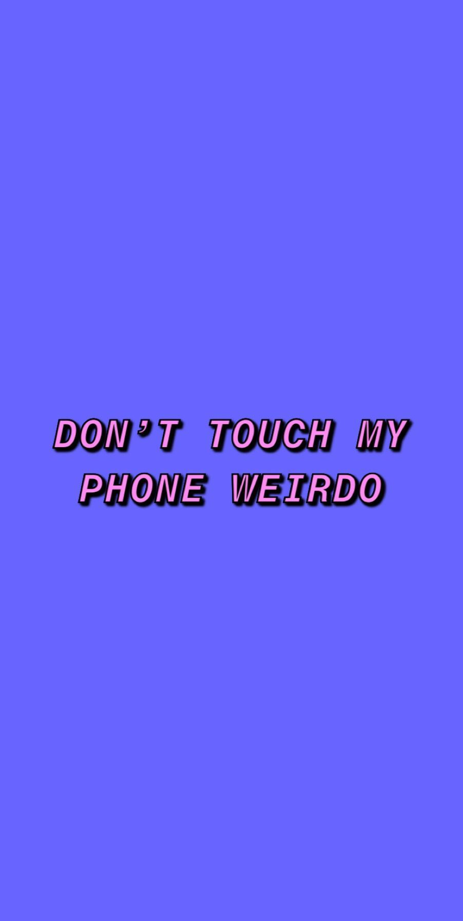 Dont Touch My Phone Purple Wallpaper V 2020 G Oboi