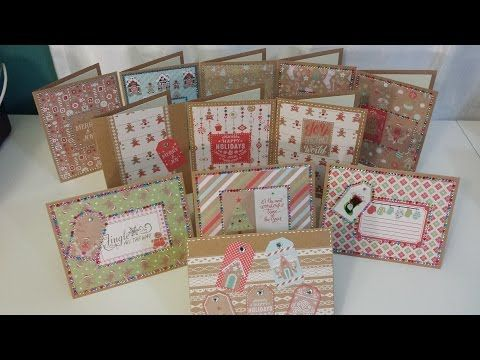 Best christmas card ideas using recollections gingerbread paper best christmas card ideas using recollections gingerbread paper pad youtube pronofoot35fo Gallery