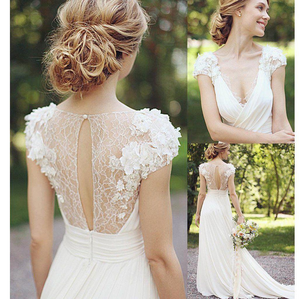 Greek Style A Line Chiffon Wedding Dress 2017 Simple Sash: Pale Blue Lace Tulle Half Sleeve A-line Wedding Dresses