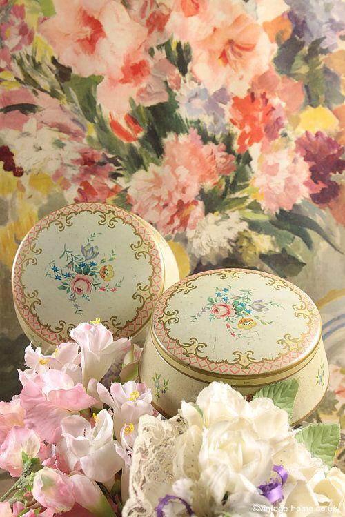 Floral Decorated Boudoir Pots.