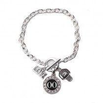 Player Number Basketball Bracelet
