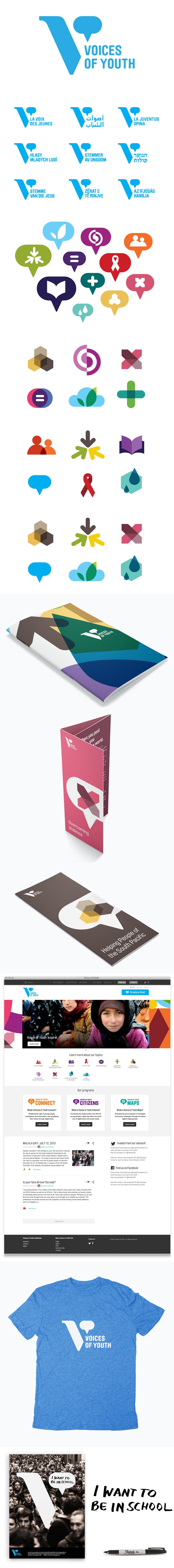 아이콘 전개 Voices of Youth brand, Unicef