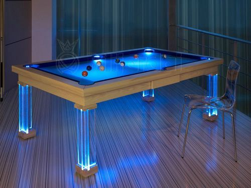 Fantastic Glass Pool Table Led Light Pool Table Designs Pool Table Interior Design Ideas Ghosoteloinfo