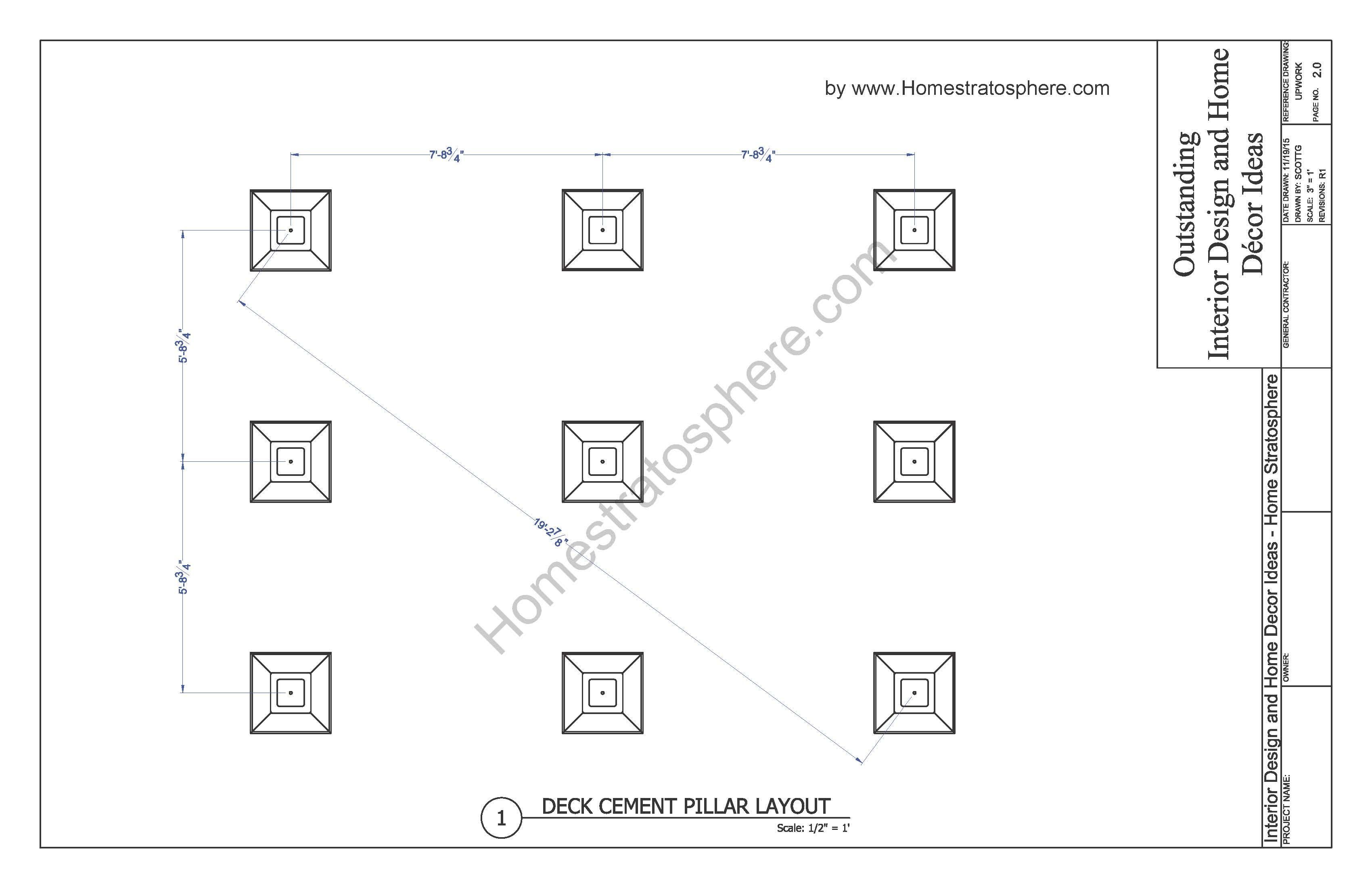 Free 12 X 16 Deck Plan Blueprint