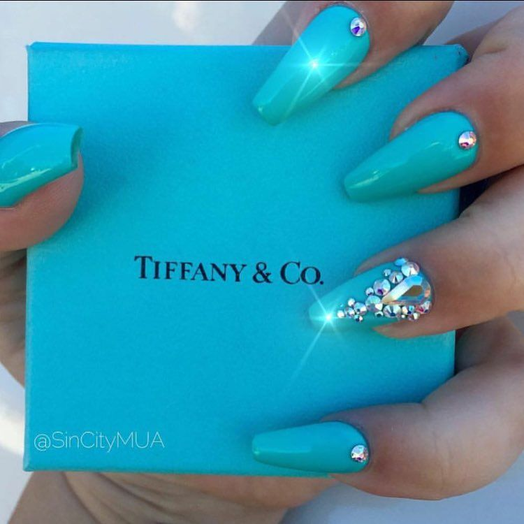 Ana Karpova On Instagram Clients View Thank You Sincitymua For Coming In Tiffany Blue Nails Blue Toe Nails Tiffany Nails