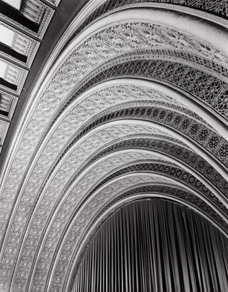 Louis Sullivan's Chicago Auditorium Theater, known not only for it's architecture, but it's superior acoustics as well.