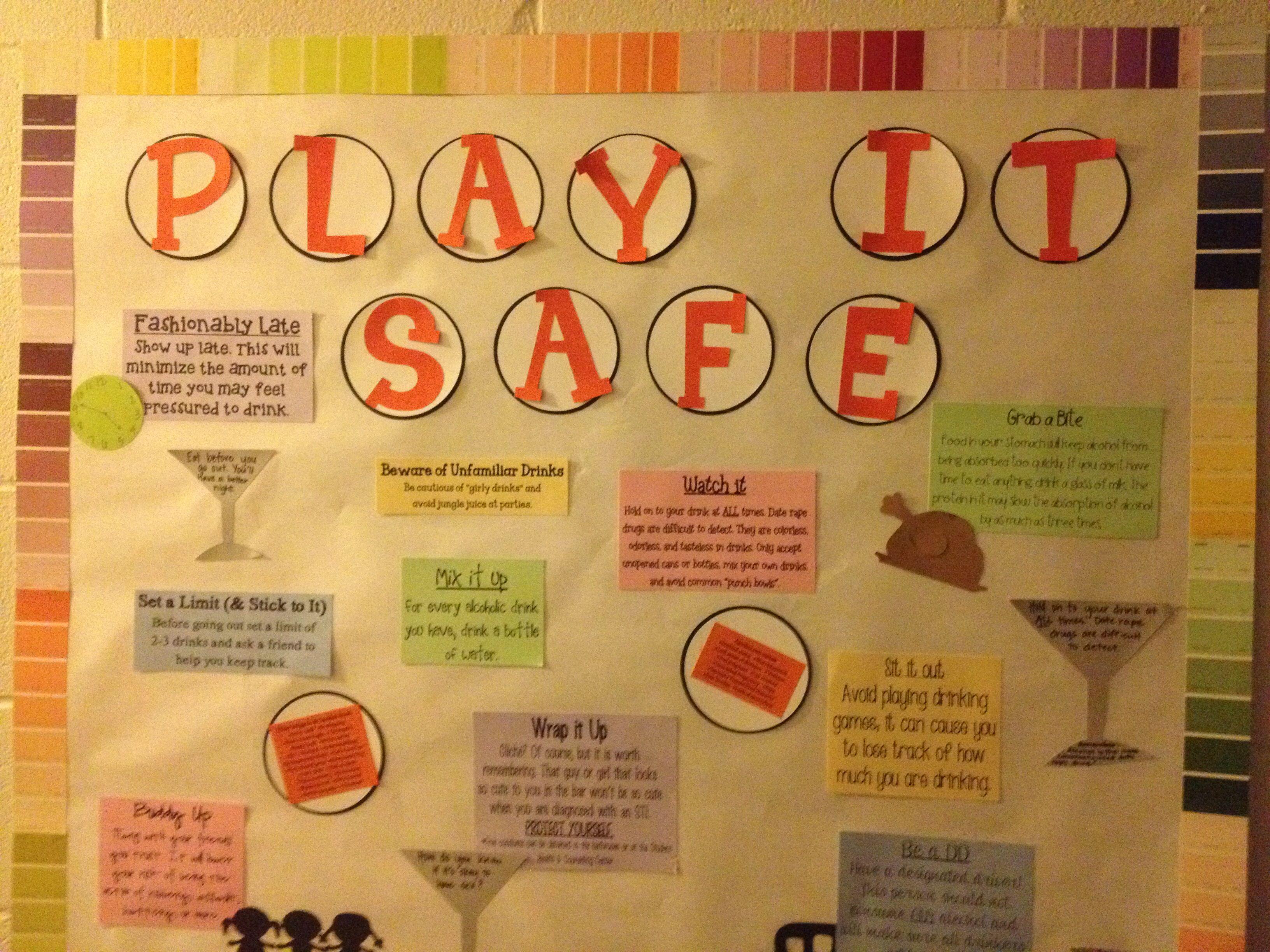 play it safe alcohol awareness bulletin