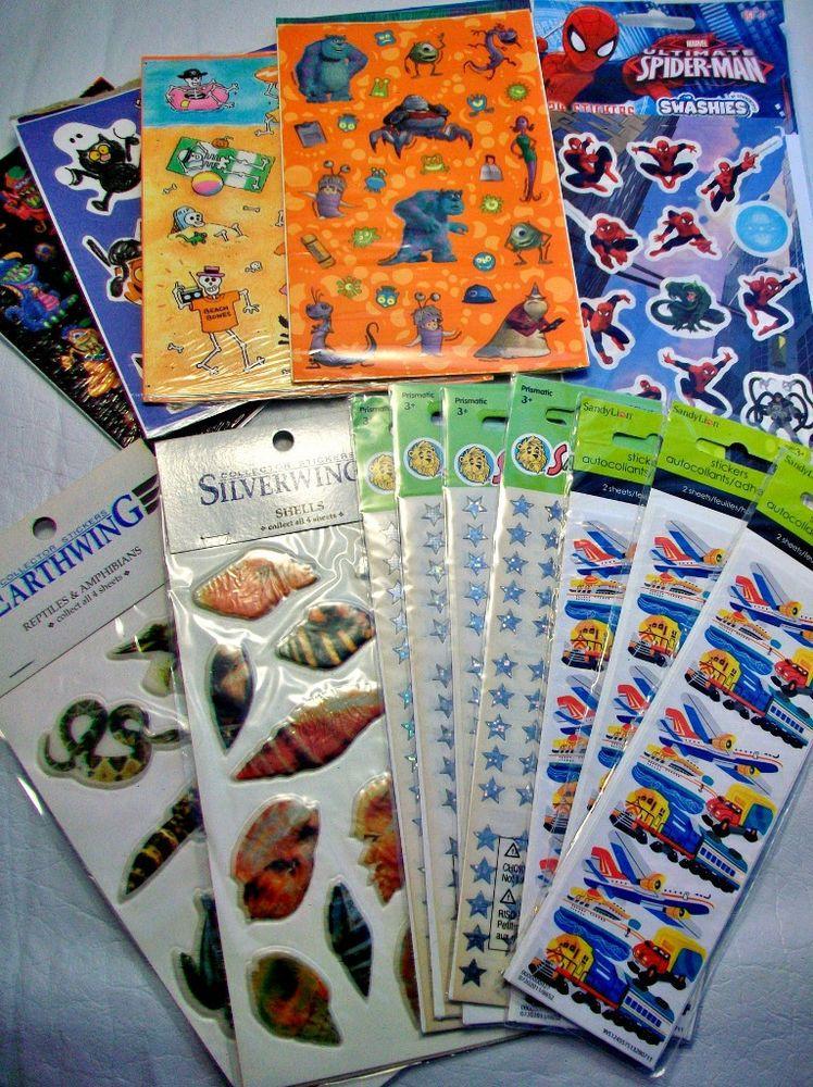 Reward Stickers Teachers School Over 750 Spiderman Monsters Inc Puffy Sandy Lion