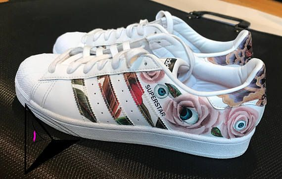 Eye SuperstarsCustom Roses Made Adidas Shoes kPXiZu