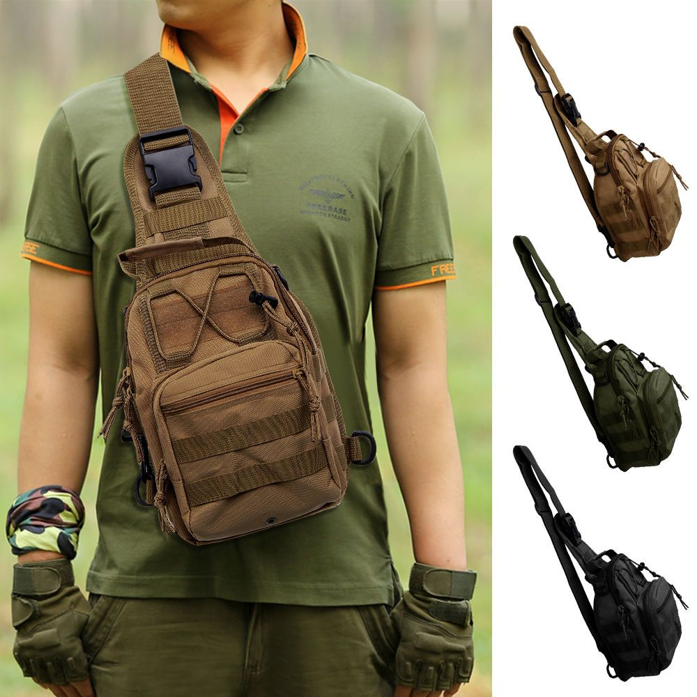 Climbing Bags Brave Waterproof Military Tactical Sling Chest Bag Travel Hiking Molle Cross Body Messenger Backpack Shoulder Bag Casual Day Pack