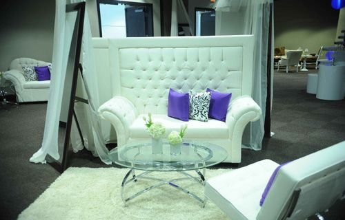 crystal button tufted high back white leather love seat by