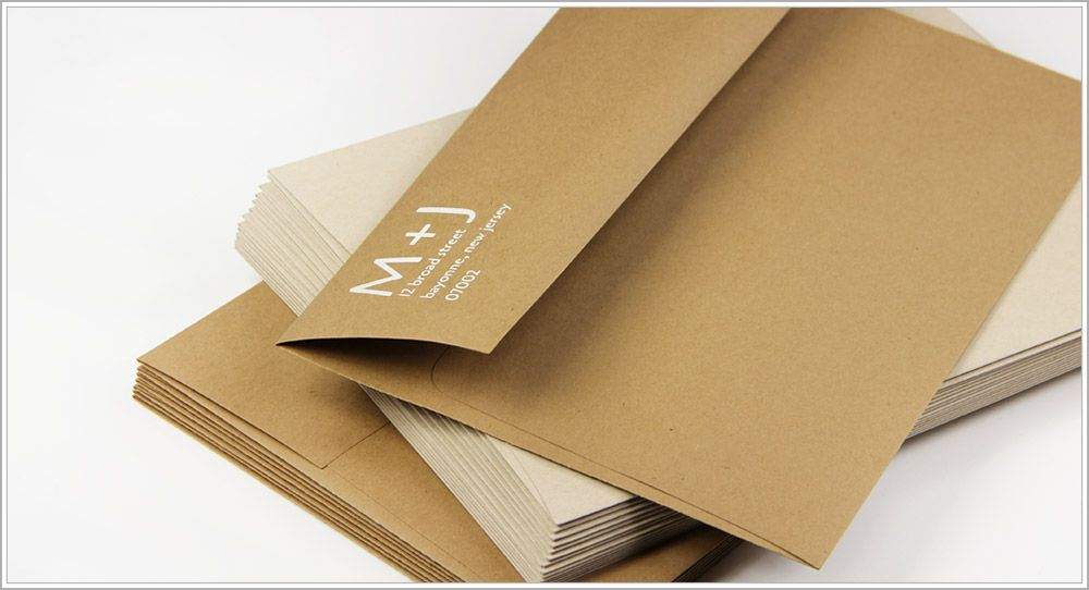 how to return address wedding envelopes%0A Matching kraft envelopes printed with white ink in Playfair Display font    Chic Kraft Paper   Pinterest   Fonts