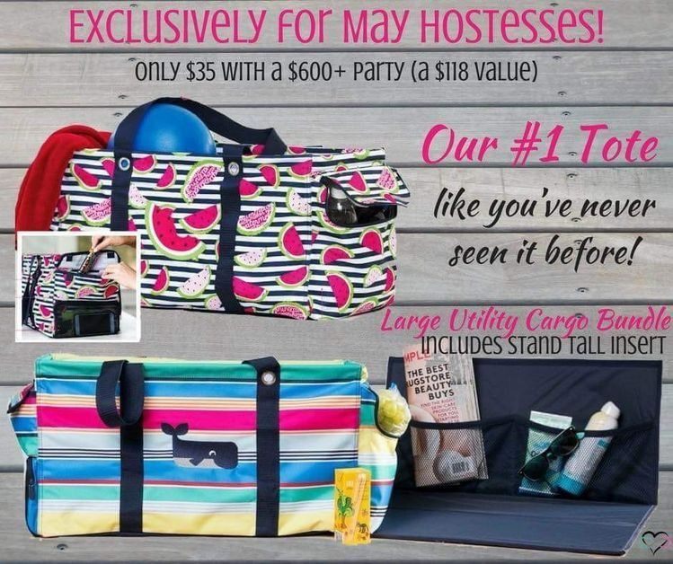 a7224f055390 May 2018 Hostess Bundle Special. Large Utility Tote Cargo Bundle ...