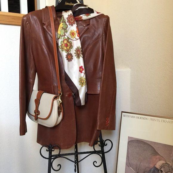 Vintage ladies leather jacket.  size 12 Gorgeous British Tan vintage leather Jacket. Jackets & Coats