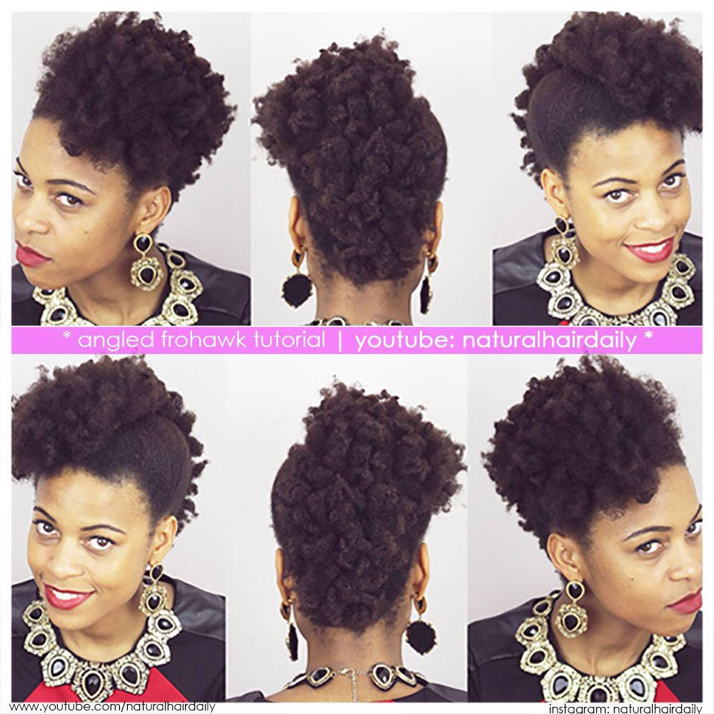Fierce angled frohawk by neecie simply visit youtube
