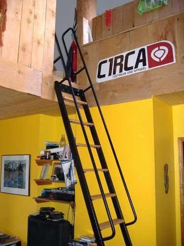 loft ladder - cool hand rail