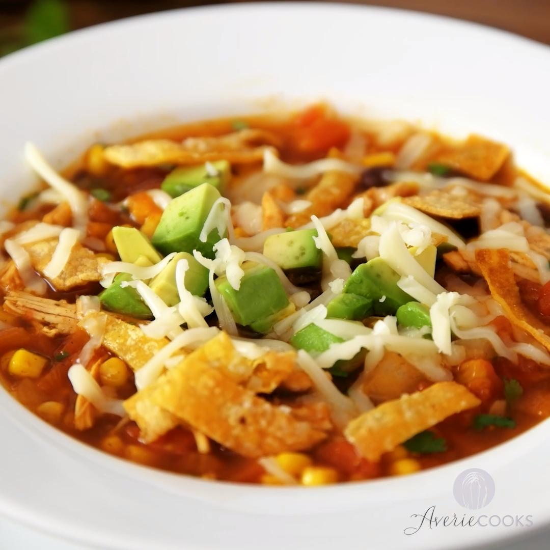 Photo of Soupe de tortilla au poulet maison facile en 30 minutes