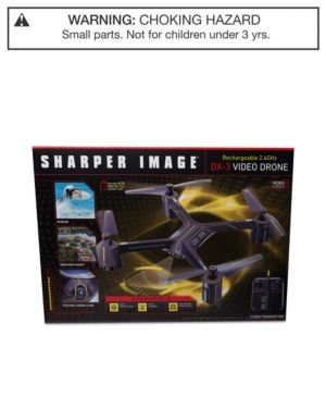 Sharper Image Rechargeable Dx 3 Video Drone Black Video Drone