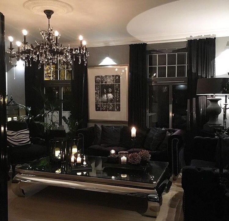 Luxury gothic living room modern gothic glam www for Glam modern living room