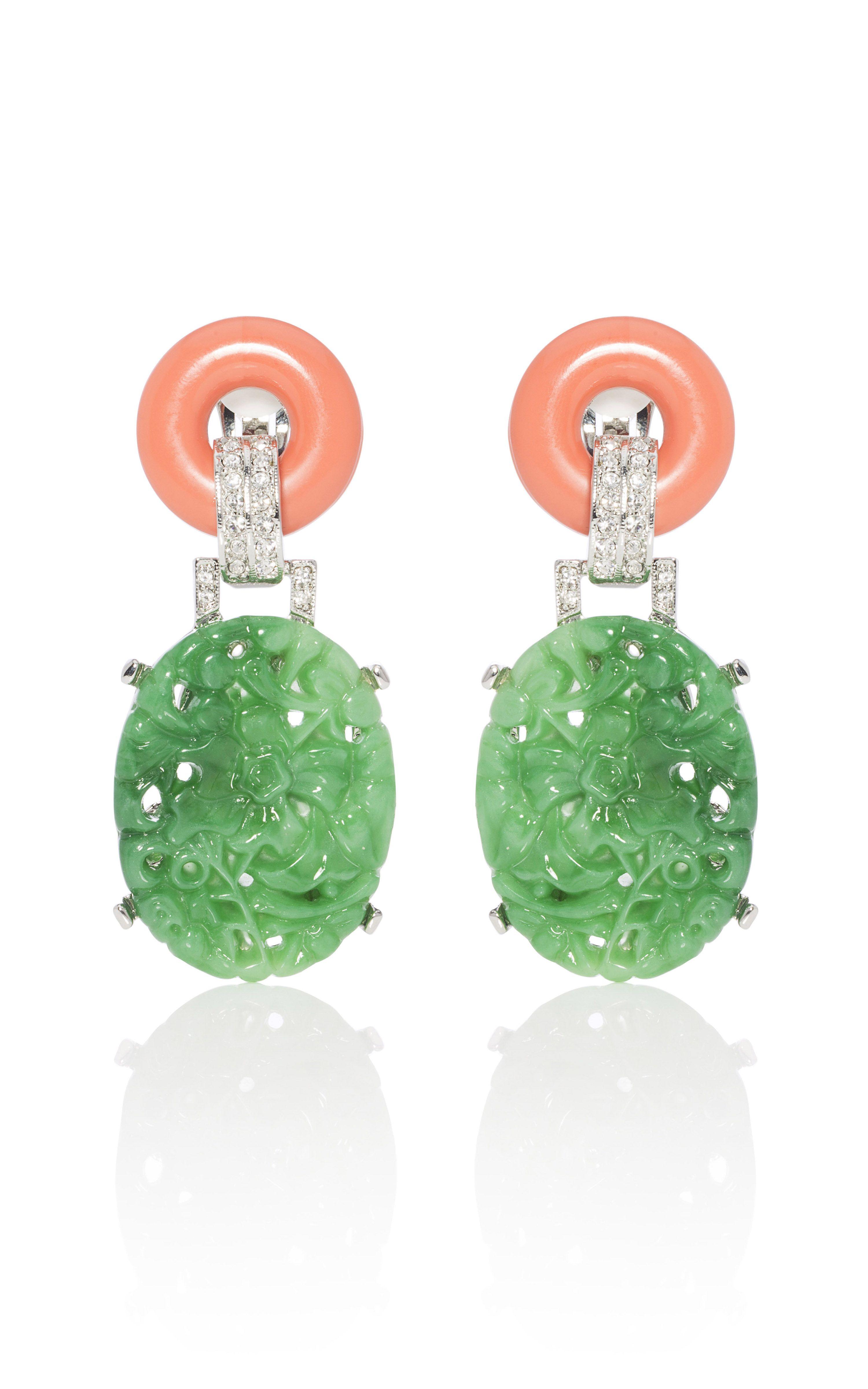 Kenneth Jay Lane Carved Jade Earrings at Moda Operandi | Jewelry ...