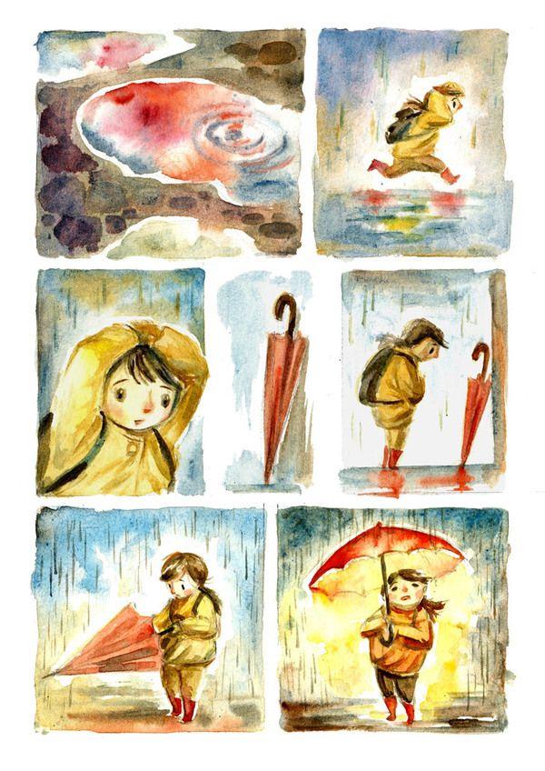 Silent Comics by Ileana Surducan, via Behance - Brilliant Drawings !