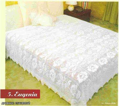 Crochet golden bedspread
