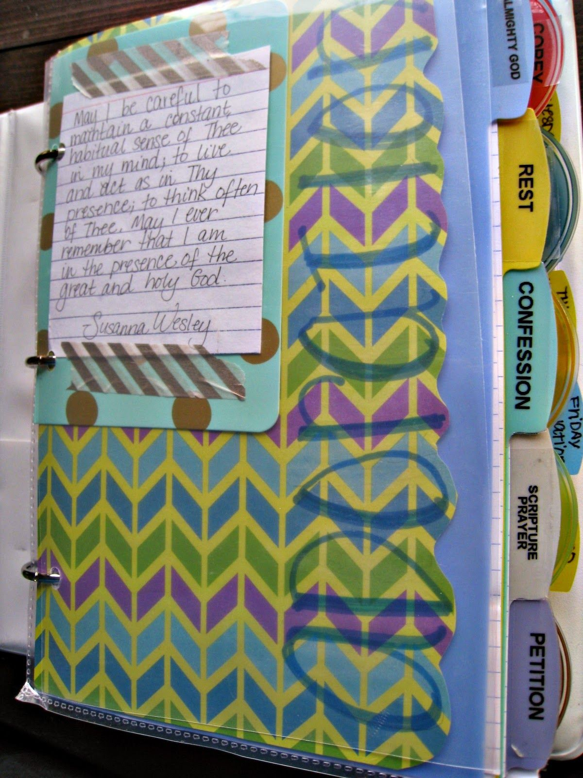Prayer Binder Tutorial Part Two The First Five Sections