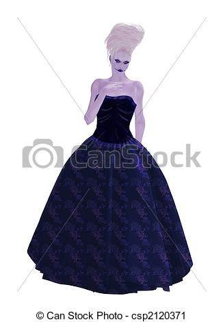 Blue Young Lady