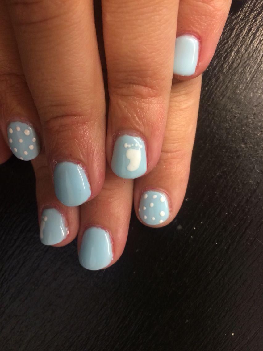 Baby boy nail art gel polish | Nails by Macayla Rasmussen ...