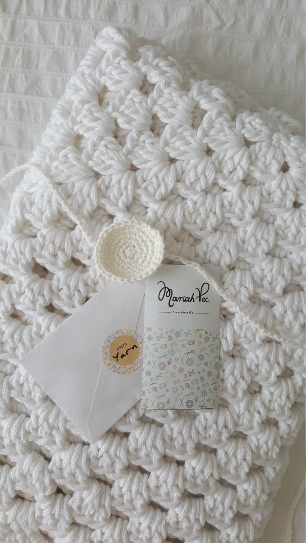 Manta Crochet, Manta Bebe, Manta, Manta para Bebe, Manta de Apego ...