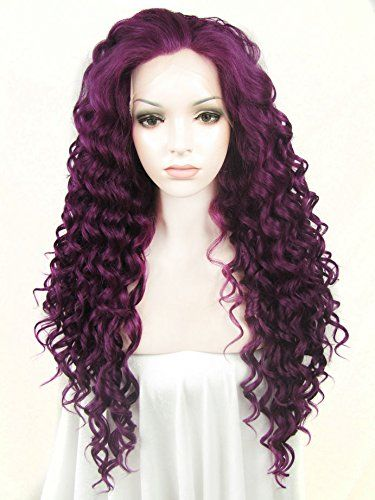 Ebingoo Fashion Sexy Women Lace Front Wigs Purple Long Curly Wave Heat  Resistant Synthetic Full Hair Lovely Party Wig N18 3700 -- Details can be  fo… 6718841121f1