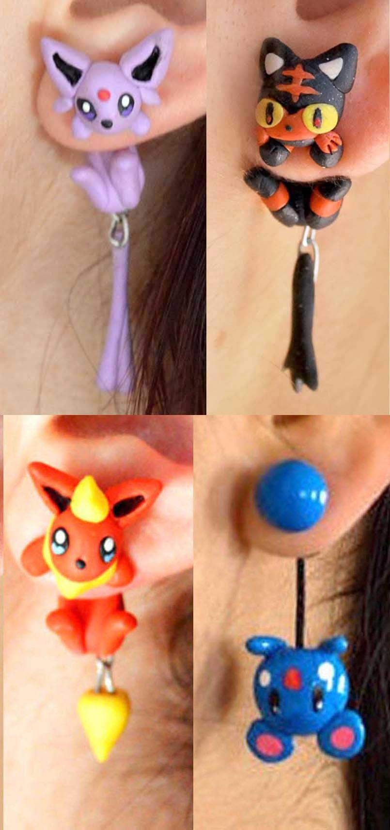 Pokemon Earrings Pretty Things Pinterest Aretes Anime And Kawaii