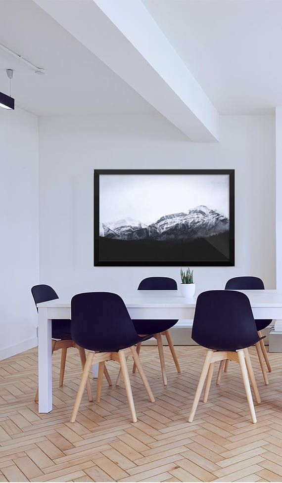 Snow Mountain / Wall Decor / Nature Inspired Home Accent ...