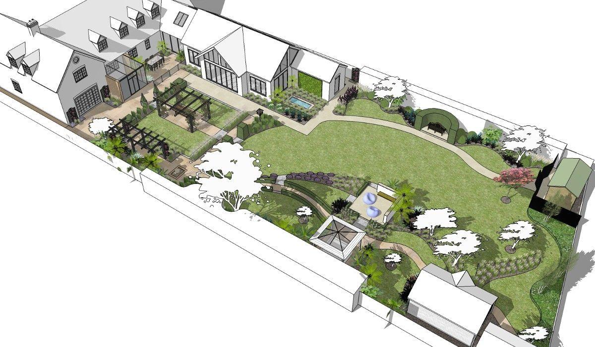 Image Result For Garden Plans For Large Gardens Garden Design