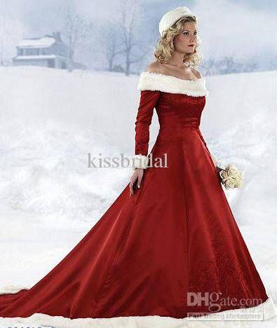 fc5a5dc260b7 Abito da sposa in rosso e bianco Abiti Invernali