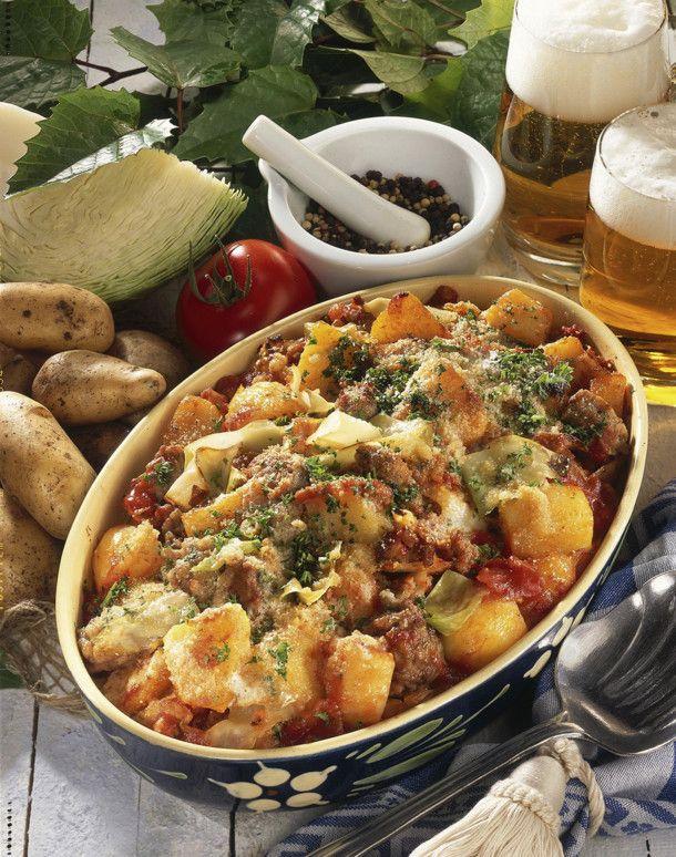 Kartoffel-Weißkraut-Auflauf #spitzkohlrezeptehackfleisch