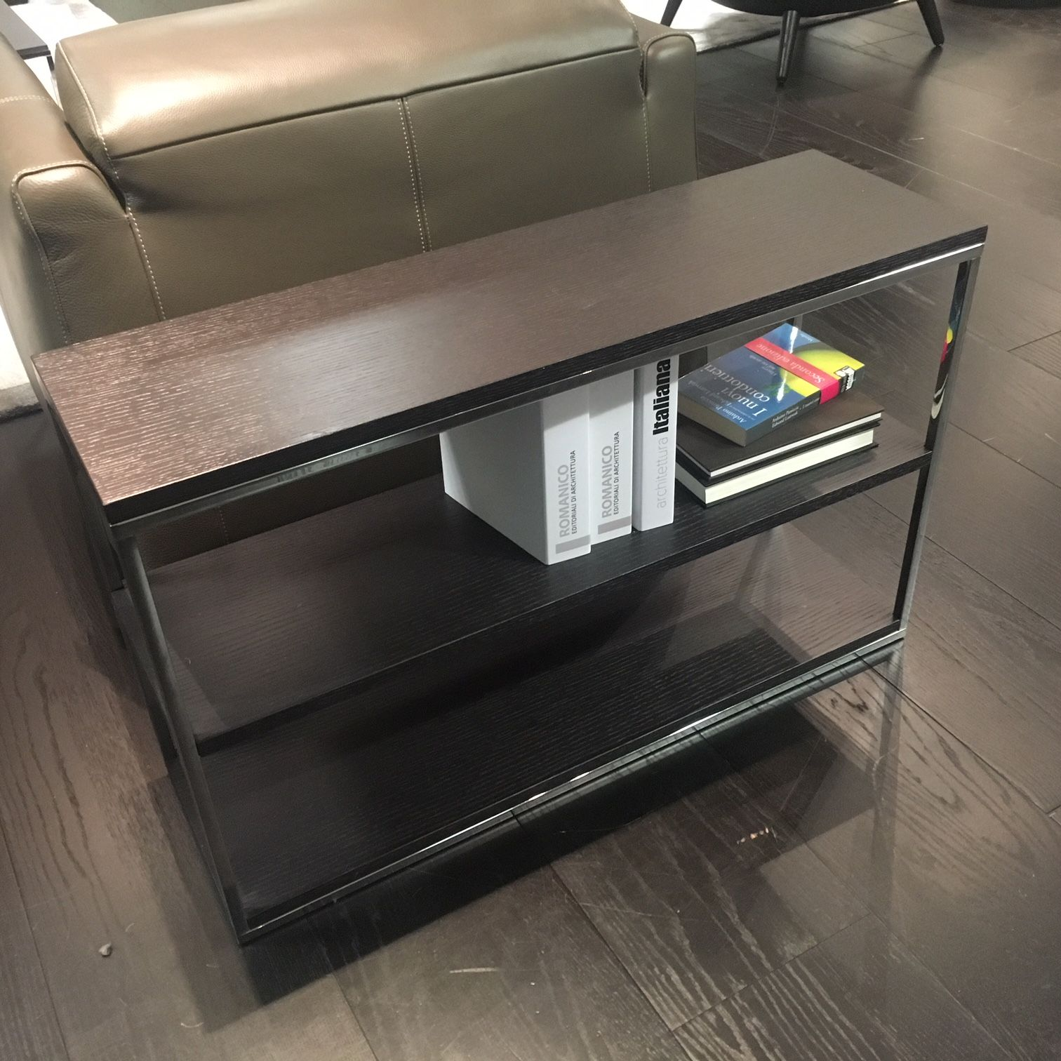 Natuzzi Italia Cabaret Console Table In Coffee Oak | Stocktons Designer  Furniture
