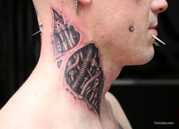 Biomechanic Neck Tattoo Picture By Stotkertattoo Com Tattoo Ideas