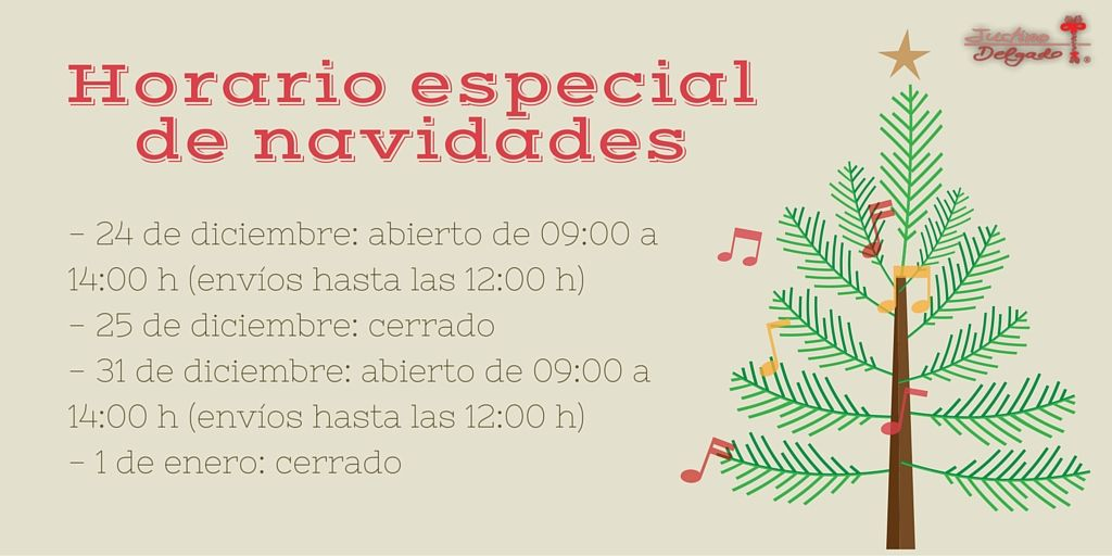 nuestro horario para las fiestas navideas
