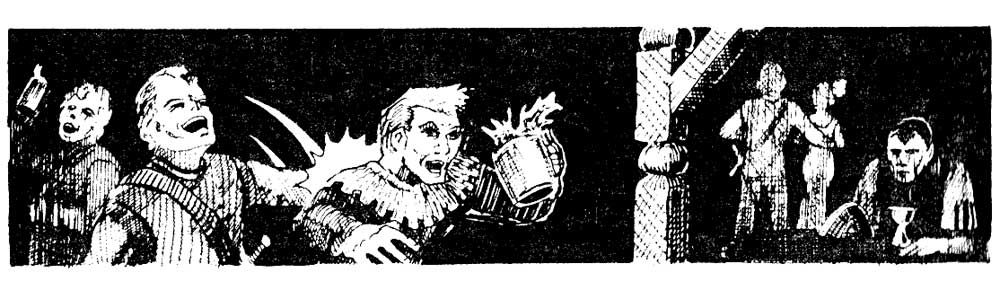 Tavern patrons (AD&D Dungeons Masters Guide, TSR, 1979)