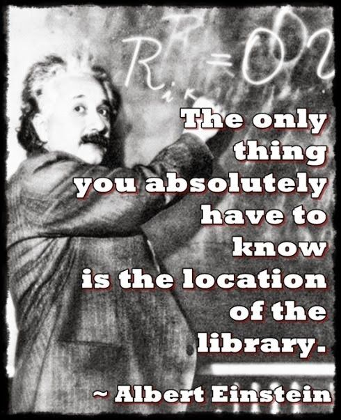 Albert Einstein and The Library | Content in a Cottage