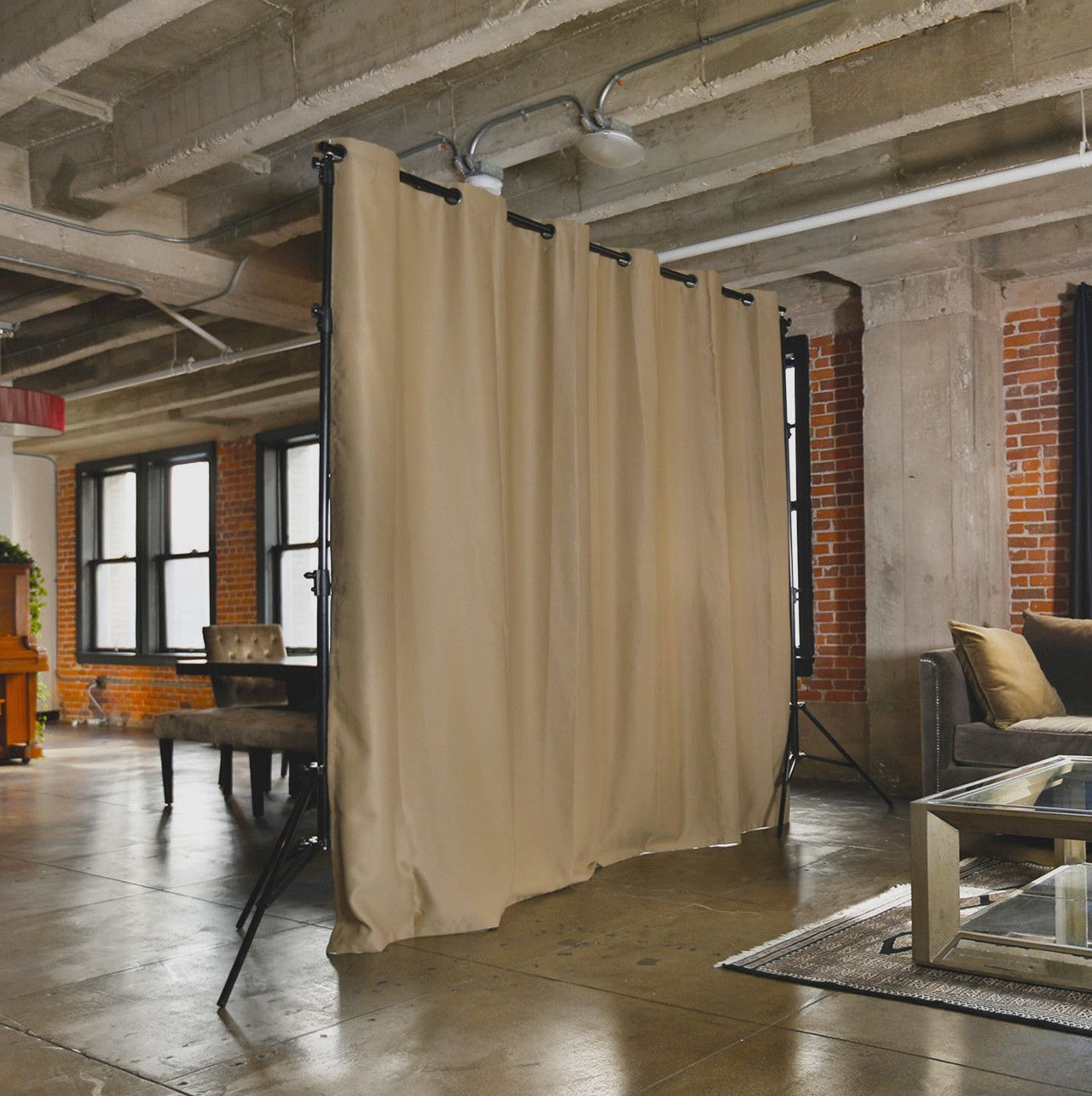 Free standing curtain room dividers - Freestanding Room Divider Kits