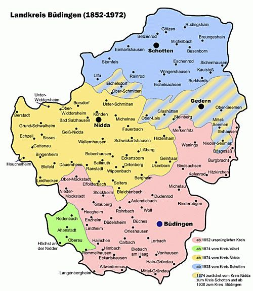 Budingen Germany Map.Budingen Germany Map Of The Budingen Landkreis Germany