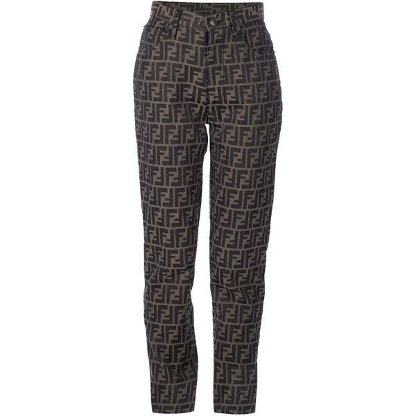 043cb91134e7 FENDI VINTAGE monogram jean ( 140) ❤ liked on Polyvore featuring jeans