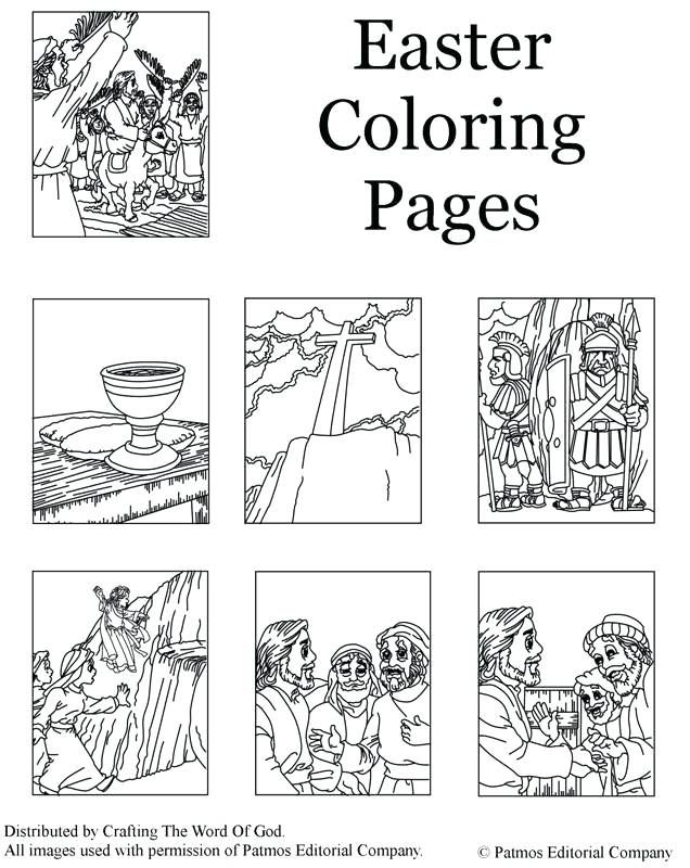 Coloring Pages Of Jesus On The Cross Death And Resurrection Coloring