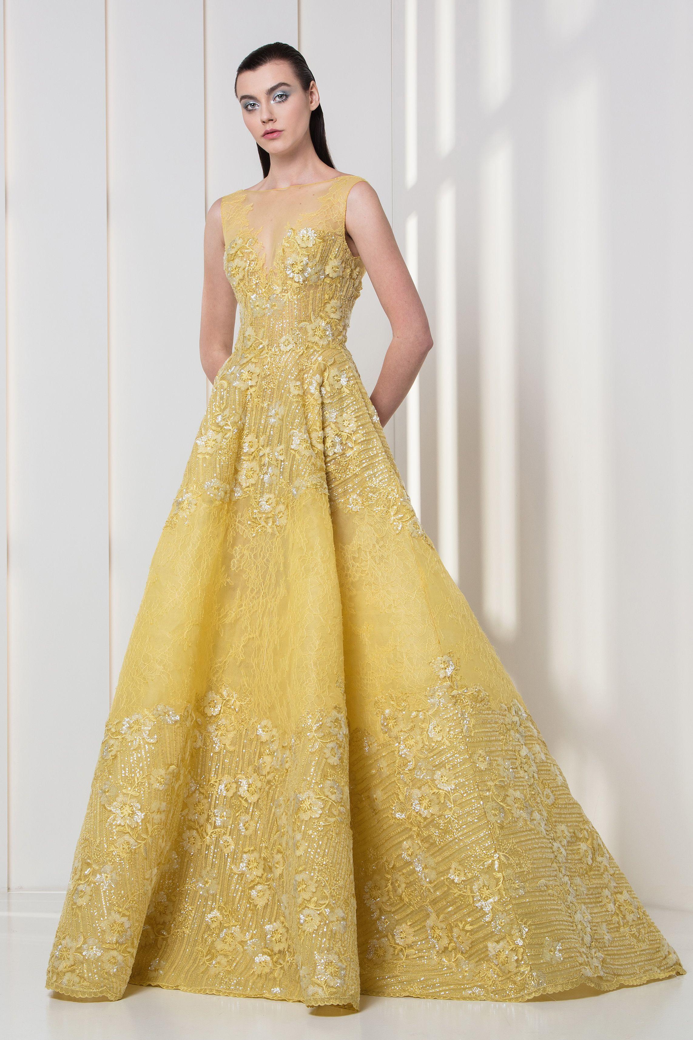 Tony Ward Rtw Fw 17 18 I Style 30 Yellow A Line Dress